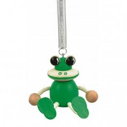 Фигурка на пружина - Жаба - зелена