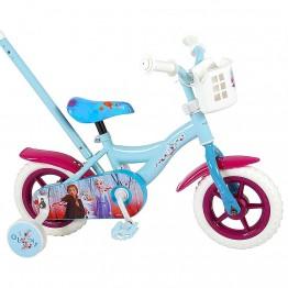 Велосипед с родителски контрол и помощни колела, Disney Frozen 2, 10 инча