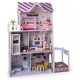 Дървена къща за кукли с обзавеждане и асансьор, Малибу