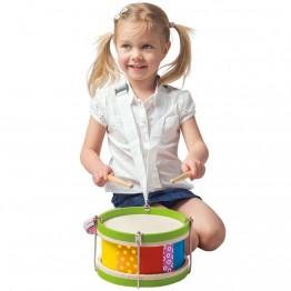Дървен детски барабан