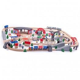 Влак с релси, Индустриална зона, с два крана, 200 части