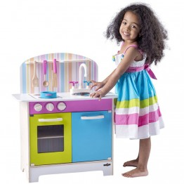 Детска дървена кухня с аксесоари, Джулия