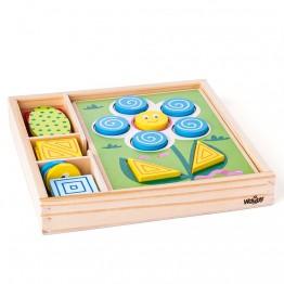 Дървена мозайка за най-малките, Цветове и форми
