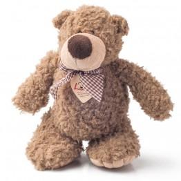 Плюшен мечо Денис с панделка, 22 см