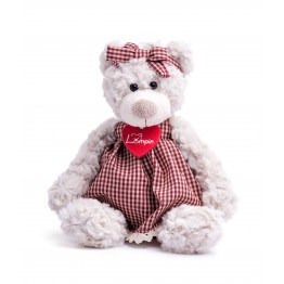 Плюшена играчка, Меча Сара с рокля, 26 см.