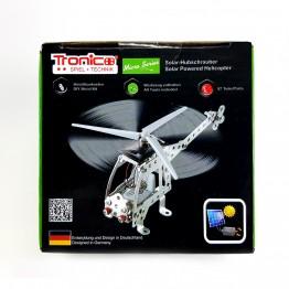 Метален конструктор със соларна батериия, Хеликоптер, 97 части, Micro Series, Tronico