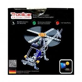 Метален конструктор със соларна батерия, Хеликоптер, 119 части, Silver Serie, Tronico