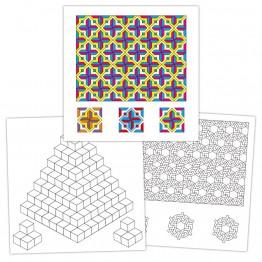 Книжка с мозайки за оцветяване