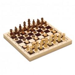 Шах, табла и дама 3 в 1, дървена игра