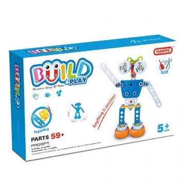 Робот - пластмасов конструктор, 59 части