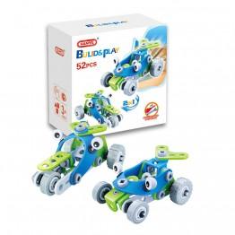 Мотор и бъги, пластмасов конструктор, 2 в 1, 52 части