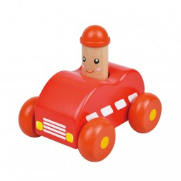 Бебешка количка със звук Бийп, червена