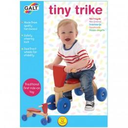 Дървено бебешко колело с четири колела