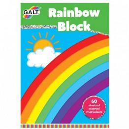 Блокче с цветни хартии, Дъга