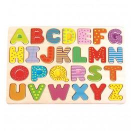 Дървен пъзел, Английска азбука, главни букви