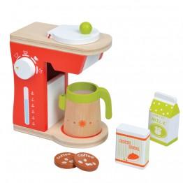 Дървена детска кафеварка, с аксесоари