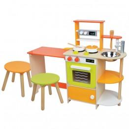 Детска дървена кухня, с трапезария