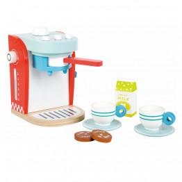 Дървена детска кафемашина с комплект за кафе