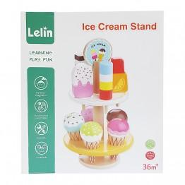 Детски дървен щанд за сладолед