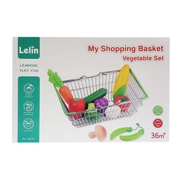 Детска кошница за пазар със зеленчуци