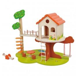 Детска дървена къща на дърво