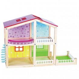 Дървена двуетажна къща за кукли, Фантазия