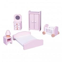 Дървени мебели за игра, Спалня