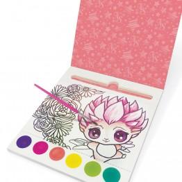 Рисувай с вода и цветни точки