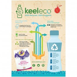 Keel eco, Плюшена играчка, Полярна мечка, 18 см, Keel Toys