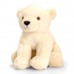 Keel eco, Плюшена играчка, Полярна мечка, 25 см, Keel Toys