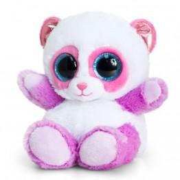 Keel Toys, Анимотсу, Плюшена играчка, лилава панда, 15 см