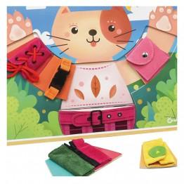 Активна дъска за основни умения Облечи котето