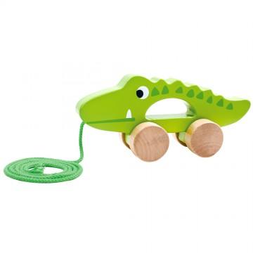 Дървена играчка за дърпане, Крокодилче