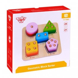 Tooky Toy, Дървена низанка, Цифри, форми, цветове