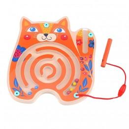 Tooky Toy, Дървен лабиринт с топчета, Коте