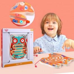 Tooky Toy, Дървен лабиринт с топчета, Бухалче