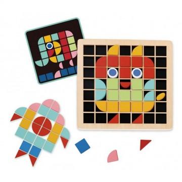 Дървена мозайка, Цветни форми